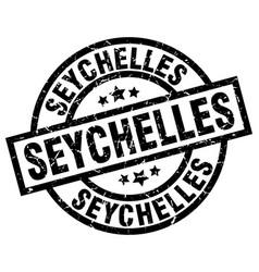 seychelles black round grunge stamp vector image vector image
