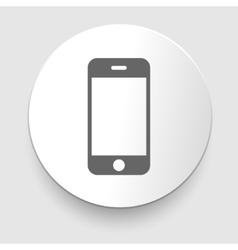 Smartphone gray icon vector image
