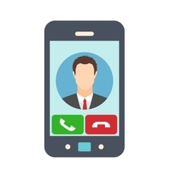 Smartphone with receiving phone call vector