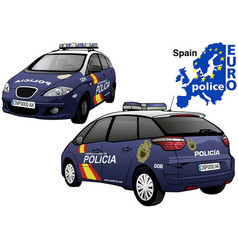 Spain police car vector