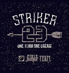 Sports print striker vector