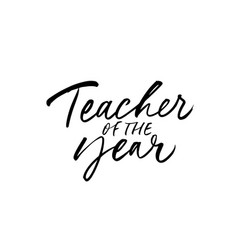 teacher year greeting card vector image