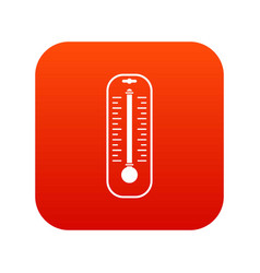 Thermometer icon digital red vector