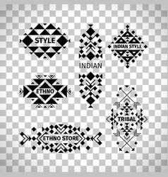 tribal logo set on transparent background vector image