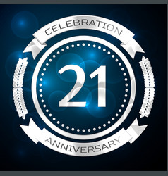 Twenty one years anniversary celebration with vector