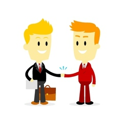 Two Businessman making a deal vector image