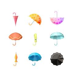 umbrellas icon items protection from autumn rain vector image