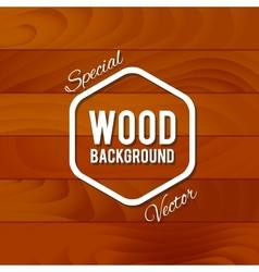 Vintage wood background vector image