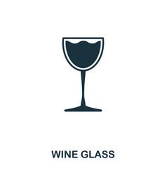 wine glass icon line style icon design ui vector image