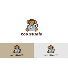 zoo studio with camera logo vector image