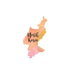 abstract north korea map vector image