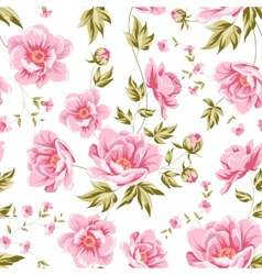 Elegant seamless peony pattern vector image vector image