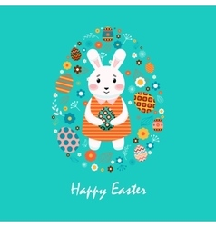 Happy easter 8 vector image vector image