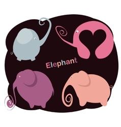 set elephants vector image vector image