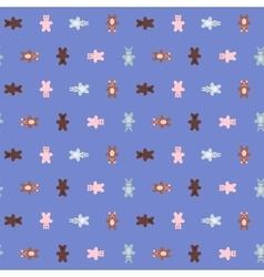 Cartoon animal doodles seamless pattern vector image vector image