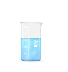 Chemical beaker 250 ml volume vector image vector image