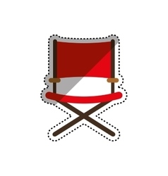 Directors chair isolated vector image vector image