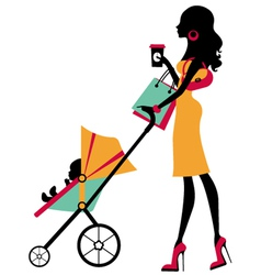 Fashion mom vector image vector image