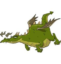 green flying dragon vector image vector image