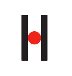 h h logo logotype - english font upper case letter vector image