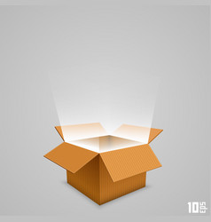 open box with the outgoing light vector image vector image