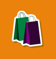 paper sticker fashion clothes paper bags vector image