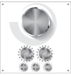 volume knob control vector image