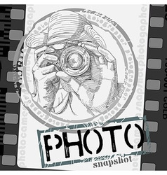 background with photographer vector image vector image