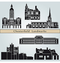Chesterfield landmarks and monuments vector image vector image