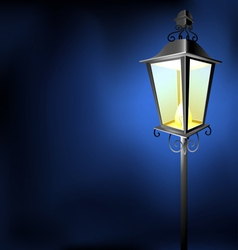 Old vintage street lamp in the dark vector image vector image