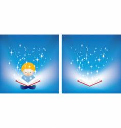reading magic vector image vector image