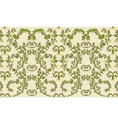 rococo textile design vintage vector image