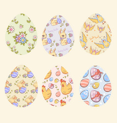 decorative easter eggs set vector image vector image