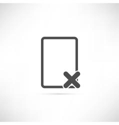 Empty Delete Icon vector image vector image
