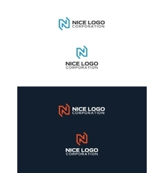 n letter logo vector image vector image