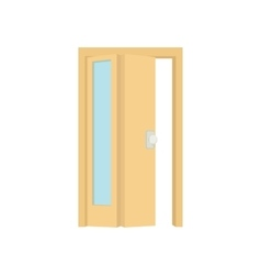 Opened door icon cartoon style vector image