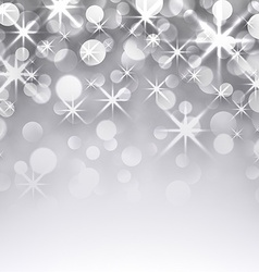 Silver christmas starry background vector image
