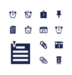 13 reminder icons vector