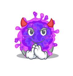 A picture alpha coronavirus in devil cartoon vector