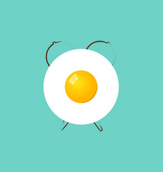 alarm clock egg breakfast time vector image