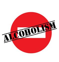 Alcoholism advertising sticker vector