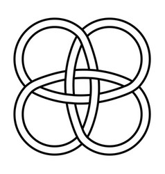 amulet celtic knot celtic knot intertwined vector image