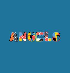 angels concept word art vector image