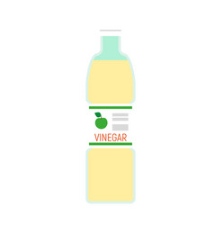 Apple vinegar bottle icon flat style vector