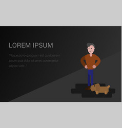 background for presentation man and dog vector image