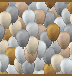 balloons seamless pattern background vector image