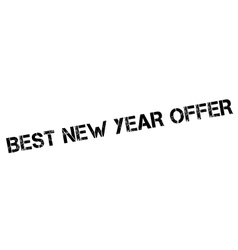 Best New Year Offer rubber stamp vector