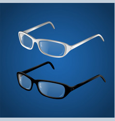 Black and white glasses - modern realistic vector