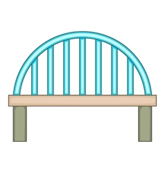 Bridge with round pillars icon cartoon style vector