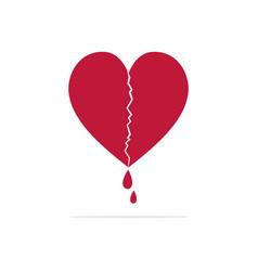 broken heart icon concept for design vector image